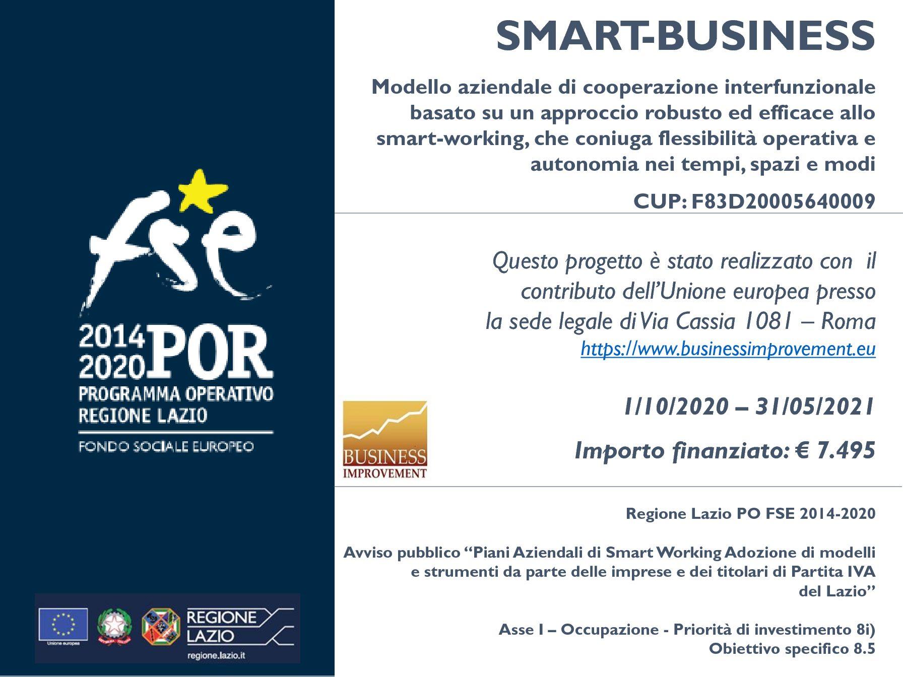 SMART BUSINESS – Progetto finanziato dalla Regione Lazio